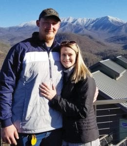 University of Kentucky offensive lineman Landon Young proposed to Haleigh Johnson during a recent trip to Gatlinburg. The couple met 2-1/2 years ago in a class. She is from Floyd County.