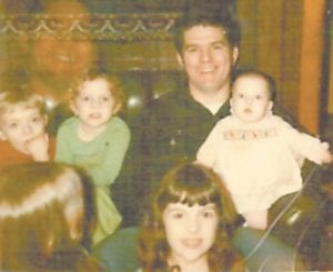 Cecil Begley with his five children, Joe Begley, Angie Slone, Rebecca Begley, Cindy Anderson, and Cecilia Swiney.