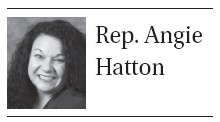 . My email is Angie.Hatton@lrc. ky.gov, while the toll-free message line is 1-800-372-7181. Operators handle these calls during normal business hours.