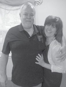 Joanne Brown is pictured with her late husband, Don Brown.