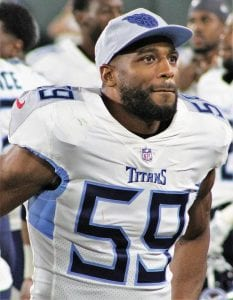 Former University of Kentucky linebacker Wesley Woodyard far exceeded his athletic ability with his productive career, not only at Kentucky but also in the NFL. (Tennessee Titans Photo)