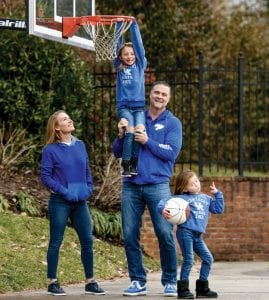 Kentucky coach Matthew Mitchell and his wife Jenna are passionate about their children, Saylor and Presley, and also passionate about charitable work. (Shaun Ring/Mitchell Family Foundation Photo)