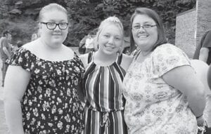 Vickie Dean Banks Wampler is shown with her two daughters, Randi Wampler and Autumn Wampler.