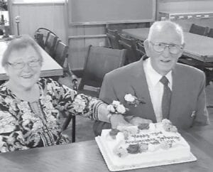 """Ashley Baker writes, """"Happy 73rd anniversary to my grandparents, Johnny and Ann Calihan. Cheers to 73 years!"""""""