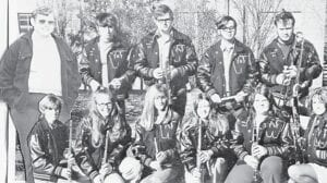 SENIOR BAND MEMBERS 1972 — (Front row, left to right) Joan Ramsey, Lee Anna Collins, Caron Crawford, Charlene Williams, Janet Frazier, Maggi Fields, (back row) Johnny Mounts, Ricky Collins, Randy Breeding, Mark Everidge and Ron Smith.