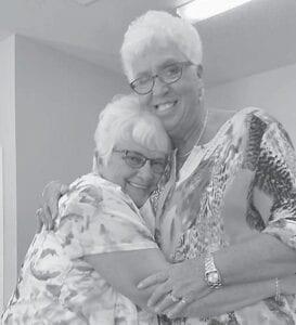 Sisters Madonna Taylor Whipple and Jo Ella Taylor Sturgill
