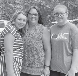 Vickie Wampler with her two daughters, Autumn and Randi Wampler