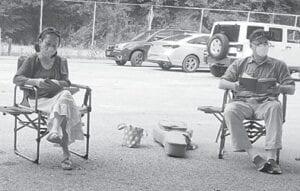 Yoko Nogami (left) is pictured with Randy Wilson.