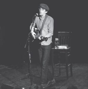 Justin Townes Earle is seen peforming during one of his appearances in Whitesburg . (Photo by Thomas Biggs)