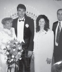 Robby and Denise Baker celebrated their 29th wedding anniversary on the 28th. They are pictured with Robby's parents, Gerald and Delilah Baker.
