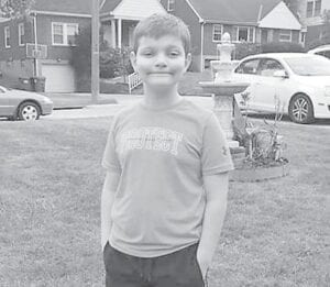 Kyle Nottingham getting ready for the first day of fourth grade at Beechwood Grade School. Kyle has been doing online school. Kyle's parents are Scott and Anna Nottingham and he is a grandson of Rose Ballard.