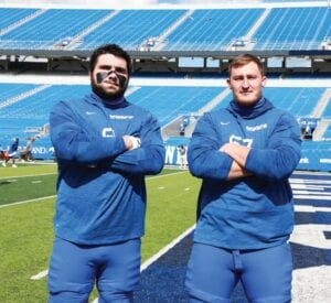 Former Belfry High School star Austin Dotson , left, grew up a Kentucky fan and worked out with teammate Landon Young this summer to get ready for a bigger role on the team. (UK Athletics Photo)