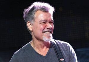 Eddie Van Halen of Van Halen performs on Aug. 13, 2015, in Wantagh, N.Y. Van Halen, who had battled cancer, died Tuesday, Oct. 6, 2020. He was 65. (Invision/AP)
