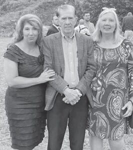 Celesta Richardson Riffe with her grandfather Bill Craft and her mom, Billie June Craft Richardson, on Cori Riffe Johnson's wedding day.