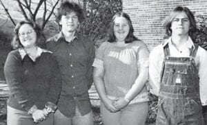 SENIOR CLASS OFFICERS — VIVIAN, TIM, PAT, LARRY