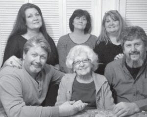 Kathleen Howard Miles Brock with her five children, Debbie Miles Lester, Sandi Miles Carrol, Kathy Miles Sloce, Ken Miles and Barry Miles