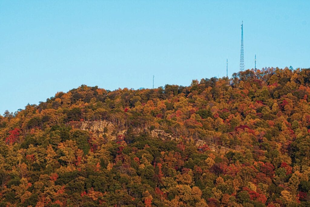 THERE HAS BEEN AT LEAST ONE POSITIVE DEVELOPMENT in the year 2020, and that has been the spectacular autumn season that Letcher County and much of the rest of Central Appalachia has been enjoying over the last several days. Mountain Eagle contributing photographer Chris Anderson took two of the scenic pictures on this page, the one Raven Rock near Jenkins (above) and the one below of a sunset as seen from Pound-Jenkins Mountain last week.