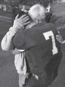 "Jeanette Yonts's sister-in-law Jenny Lynn Yonts's sister, Suzanne Craft Ramsey, posted this picture on Facebook and it just depicts a grandparent's love. ""This was Gavin's last night as a Pirate. He played his heart out. I will always be on the sideline cheering for my boys and Skye!"""