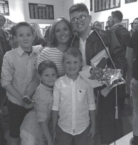 Martina Yonts with her four boys, Gavin, Gaige, Jude Lee and Jace Michael.