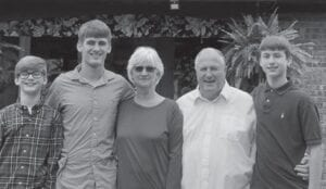Bill and Sandy Jones with Ryder, Parker and Gunner, the sons of Bobby Jones.
