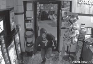Whitesburg City Police released the surveillance photos above and below after the Food City Wine and Spirits Store was invaded by two thieves crashing through the store's glass door.