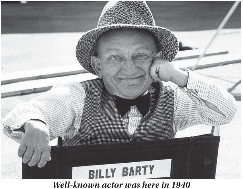 """Actor Billy Barty, who stood only 3 feet 9 inches tall, appeared in person at the old Kentucky Theatre in downtown Whitesburg on November 27, 1940. Barty, who began his acting career with Mickey Rooney on the """"Mickey McGuire"""" comedy series in the 1920s, went on to appear in many movies and television shows until he died at age 76 in the year 2000."""