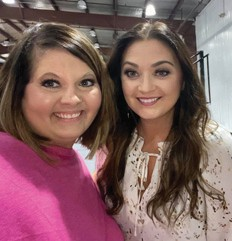Ashley Smith on the right with her sister-in-law Brandy Smith