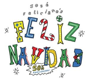 The cover of the new recording of 'Feliz Navidad' is shown.