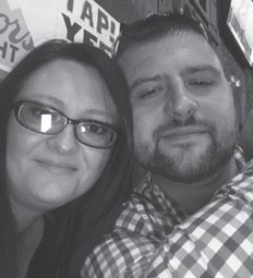 Miranda Begley Sturgill is pictured with her husband Rick Sturgill. She will have a birthday December 5.