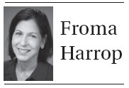 Follow Froma Harrop on Twitter @FromaHarrop. She can be reached at fharrop@gmail.com.