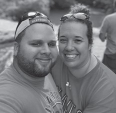 Pictured are Blake and Chasity Watts Mason. Chasity Mason's birthday was the 25th.