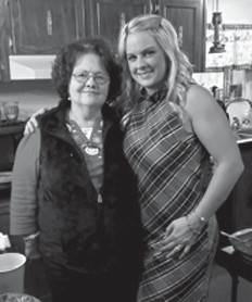 Nyoka Crawford and her daughter Amy Brock. Amy's birthday was on the 1st.
