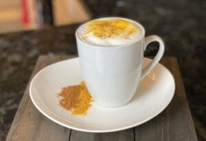 Golden Turmeric Vanilla Protein Latte