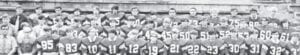FLEMING-NEON FOOTBALL TEAM _ First row: Roland White, 12-Ricky Spangler, 85-Daniel Bentley, 83-Wayne Isaac, Bonney Bentley, 11-Mark James, 12-Micheal Mullins, 19-Anthony Bates, 21-Ricky Morris, 22-Randy Bentley, 23-Jimmy Mullins, 30-Tommy Vanover, 31-Gary Broome, 32-Darrell Thompson. Second row: Tommy Lewis, Jacky Childers, Roger Fields, 89-Roger Isaac, 34-Danny Quillen, 35-Gary O'Neal, 40-Tony Barker, 41-Tim Hall, 45-Enoch Anderson, 50-Wallace Kincer, 51-Bennie Craft, 52-RickyFleming, 53-Richie Taylor, 60-Doug Pigman, 61-David Rudd. Third row: Ronald Halcomb, 54-Ricky Anderson, 84-James Yates, 63-Mike Rudd, 64-Lee Palermo, 65-Ricky Moore, 70-Roger Duty, 71-Keith Holbrook, 72-Joey Hughes, 73-Billy Adams, 74-Jimmy Huff, 75-David Anderson, 88-Alvin Taylor, 82-Jimmy Wright.