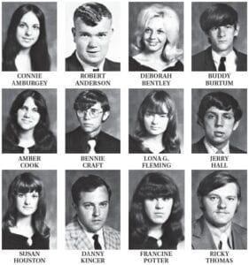 1972 Some of the members of the senior class were: