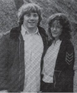 MORGAN BLAIR and AMA WRIGHT 1982 Ring Dance King and Queen