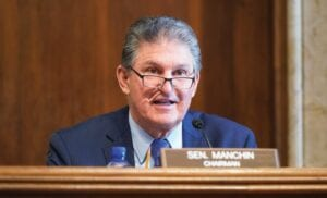 Sen. Joe Manchin, D-W.Va., spoke recently during a Senate Committee on Energy and Natural Resources hearing on the nomination of Rep. Debra Haaland, D-N.M., to be Secretary of the Interior on Capitol Hill in Washington. (AP Photo)