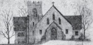 NEW CHURCH — This architect's drawing of what is now the Graham Memorial Presbyterian Church in Whitesburg appeared on the front page of the March 12, 1931 edition of The Mountain Eagle.