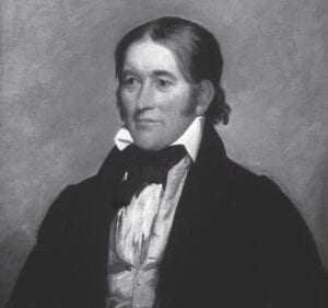 This 1834 portrait of Davy Crockett was painted by Chester Arthur.
