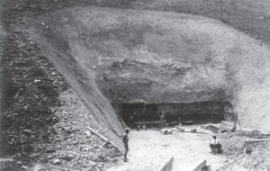 One of Letcher County's largest and earliest major coal mining operations, Mine No. 205 at Jenkins, was being prepared for opening in the Elkhorn No. 3 seam when these two photographs were made in early autumn 1911, nearly 110 years ago. (Photos courtesy University of Kentucky Digital Library)