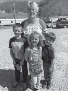 Sonja Grimm with her grandchildren. She had a birthday on the 22nd.