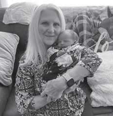 Diann Bolling holding her great-granddaughter Ella Rose Begley. Ella Rose's parents are Dalton Begley and Ashley Bolling.