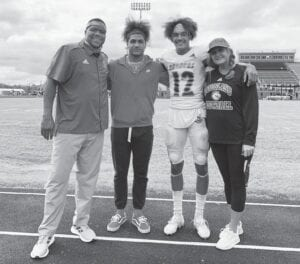 Receiver Dane Key says his family — mother Nicole, father Donte and brother Devon — all have a role in his recruitment process.