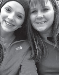 Alley Bolling Stocker is pictured with her mom, Christine Bolling. Christine Bolling will have a birthday on the 28th.
