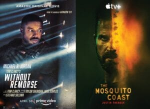 'Without Remorse' and 'The Mosquito Coast'.