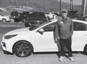 Tim Short Chrysler of Middlesboro ran this photo of Kenneth Widner of New Tazwell, Tennessee after Widner purchased a 2019 Kia Forte in April 2020.