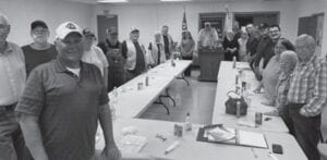 Members of the Neon Lions Club met May 4 for their first supper in more than a year.