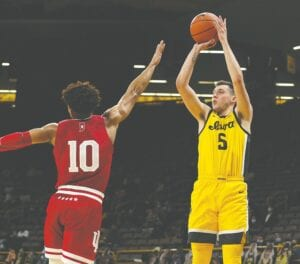CJ Frederick, who has transferred from the University of Iowa to the University of Kentucky to play basketball, says UK was always a dream school for him. (Iowa Athletics Photo)