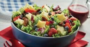 Apple, Strawberry, Blueberry Salad