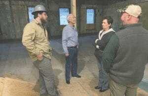 Whitesburg Mayor James W. Craft, second from left, was among the city officials who visited the old DANIEL BOONE Hotel in March 2020.